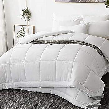 Bedsure Edredón Nórdico Relleno Cama 150/160 Doble - 240x220 cm Blanco, 150gr+300gr de Fibra Suave y Antiácaro, Reversible y Moderno para 4 Estaciones