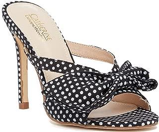 Wrin Womens Fashion Adorable Bow Detail Stiletto Heel Sandal