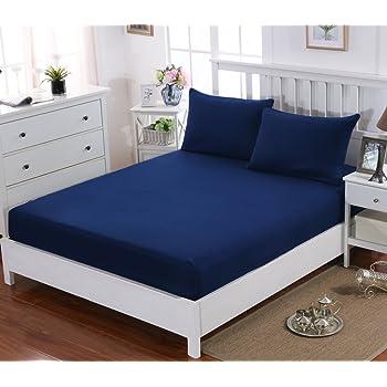 J/&K Markets Housse de Couette Milos 220x240cm 100/% Coton Edition Limitee 2 Personnes Gamme Cyclades Blanc//Bleu