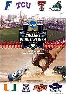 2016 NCAA Baseball College World Series TD Ameritrade Park All Team Print Poster