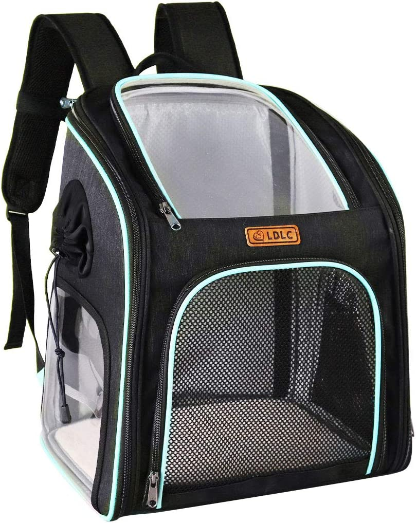 Pink Foldable Dog Cat Backpack Puppy Carrier Pet Cage Lightweight Travel Sided Bag Mesh Outdoor Rucksack