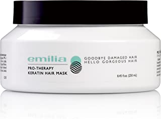 Emilia Pro-Therapy Keratin Hair Mask - Hydrating Hair Treatment for Maximum Protection Shine and Strength - Deep Conditioning Effects For Damaged and Dry Hair with Keratin Vitamin E B5 and Castor Oil