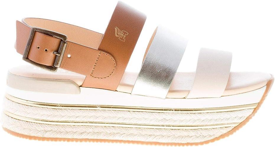 Hogan Donna H430 Sandalo con Fasce Multicolore e Suola Maxi in ...