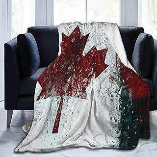 Canada Flag Vintage Flannel Fleece Blanket Soft Warm Fleece Throw Blanket Premium Durable Sofa Blanket Comfortable Lightweight Plush Throw Blanket for Office Home Bed