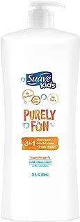 Suave Kids 3 in 1 Shampoo Conditioner Body Wash, Purely Fun Moisturizing, 28 oz
