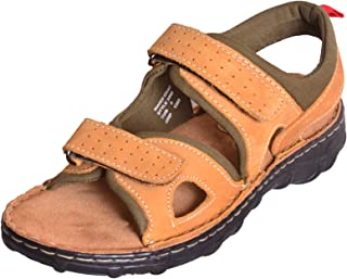 MARDI GRAS Youth Leather Sandal/Floater-Nubuck Tan-3343