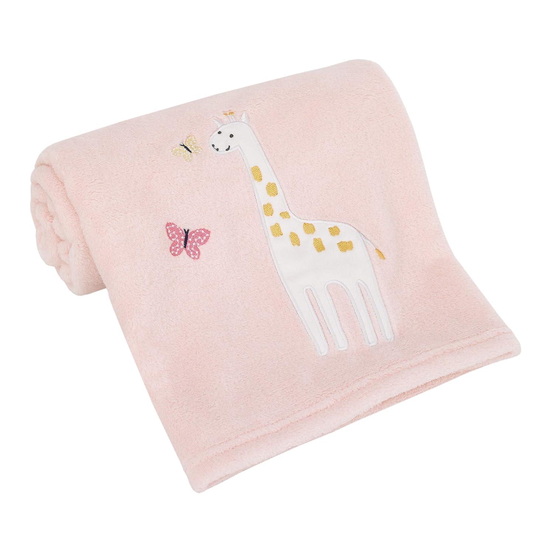 Carter's Pretty Pink Giraffes Super Soft Pink Giraffe Baby Blanket, Pink, Yellow