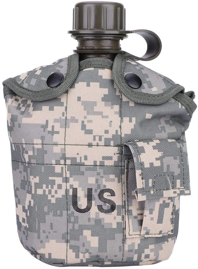 Time sale Portable Water Bottle Outdoor Camouflage Super-cheap Kettle Green Bag