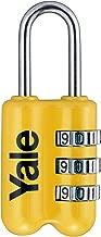 Yale Dar Tip Mini Şifreli Karışık Renkli Asma Kilit / Yp2/23/128/1