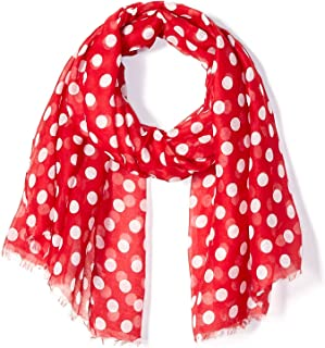 Tickled Pink Polkadots Fashion Scarf of Wrap - Stylish, Long & Lightweight (36x70
