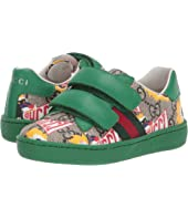 Gucci Kids - GG Supreme Double Strap Sneaker (Toddler)