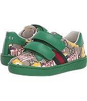 Gucci Kids - GG Supreme Double Strap Sneaker (Toddler)