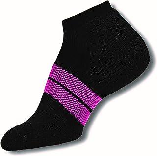 Thorlos 84 N Runner No Show - Calcetines para mujer, 84NRCW., Mujer, color negro/rosa, tamaño large