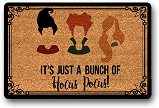 LSS Trading Hocus Pocus Welcome Mat- Sanderson Sisters- It's Just A Bunch of Hocus Pocus!- Welcome Mat-Fall Doormat- Halloween Welcome Mat- Halloween 18