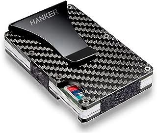 Carbon Fibre Minimalist Front Pocket Wallet Slim Credit Card Holder Wallet Money Clip RFID Blocking
