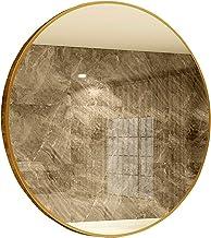 WECDS spiegel muur decor Ronde muur spiegel, goud metaal ingelijst make-up spiegel muur gemonteerde cirkel HD zilveren spi...