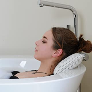 HANKEY Bathtub Pillow, Neck & Back Support,Bath and Spa Head Rest Pillow with Suction Cups
