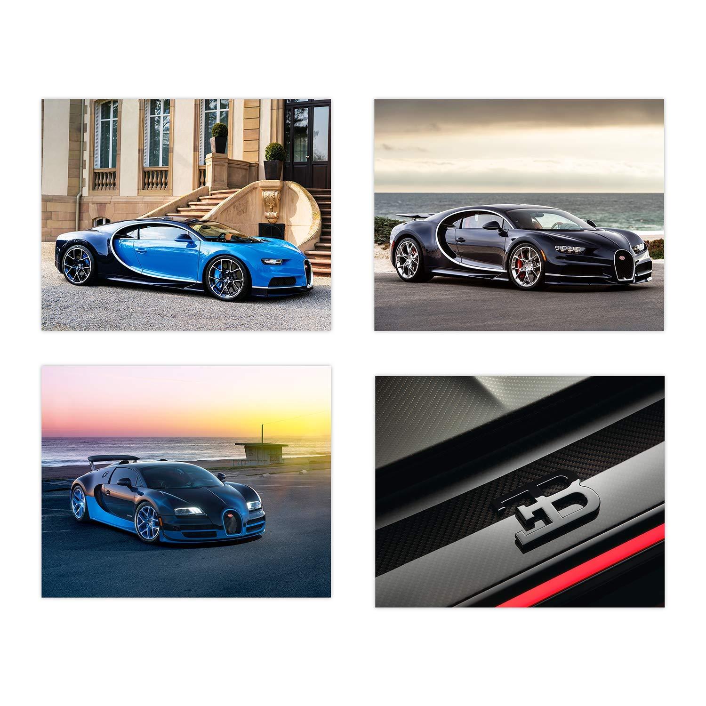 Bugatti Chiron GT Race Car } poster GLOSS PHOTO