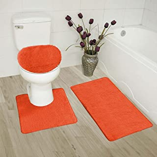 Pleasant Orange Bath Rugs Amazon Com Home Interior And Landscaping Ponolsignezvosmurscom