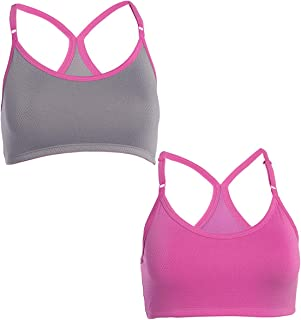 Fruit of the Loom (2 Pack) Sports Bras For Women, Racerback Bra, Strap Sports Bra, Wirefree Bra, Workout Clothes For Wome...