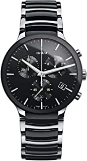 Rado Centrix Black Silver Chronograph Ceramic Analog Watch for Men