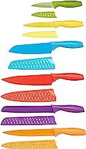 Amazon Basics - Juego de cuchillos de colores, 12 piezas