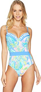 Lilly Pulitzer Palma One-Piece Swimsuit Bennet Blue Surf Gypsea 0