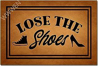 MOMOBO Funny Doormat with Rubber Back -Lose The Shoes Entrance Way Doormat Non Slip Backing Funny Doormat Indoor Outdoor R...