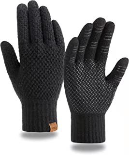 Sponsored Ad - MAJCF Winter Gloves for Men Women,Touch Screen Gloves,Thermal Warm Cold Weather Gloves Fleece Lined