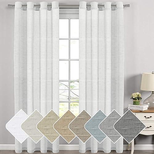 Modern Window Curtains White: Amazon.com