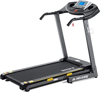 Electric Folding Treadmill Auto Incline Running Machine 2.5 HP Power 8.5 MHP Speed 12-Level Adjustment with Pre-Set Training Programs Large LCD Display Cup Holder for Home Use