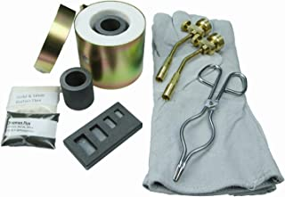 Mini Propane Gas Furnace-4 Cav Mold, Kiln, Flux, Tips, Gloves, Crucibles, Tongs - FFC6 - Melts in 10 Minutes - Melt Rings, Chains, Gold Nuggets - Flour Gold - Make Jewlery