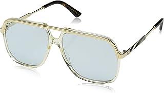 Gucci GG0200S 005 Montures de lunettes, Jaune (5/Light-Bluee), 57 Mixte Adulte
