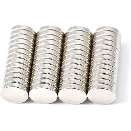 Magenesis Lot de 52Mini aimants en néodyme,10x2mm, extrêmement puissants, Environ 2kg de Force d'adhérence, 10mm de diamètre x2mm d'épaisseur