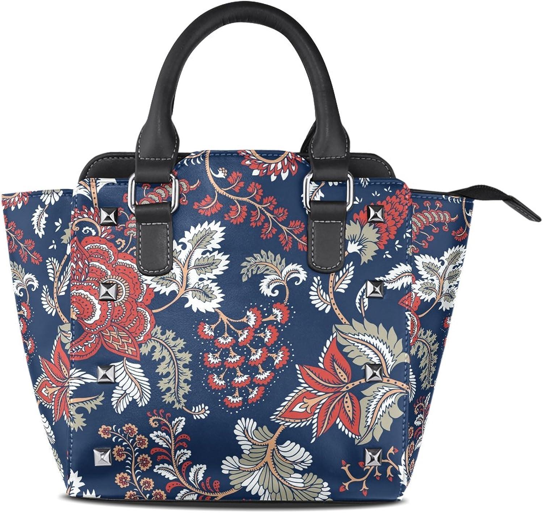 My Little Nest Women's Top Handle Satchel Handbag Fantasy Flowers Ladies PU Leather Shoulder Bag Crossbody Bag