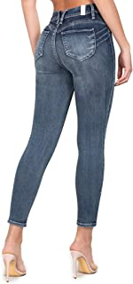 Women's Denim Luxe Lift Jade 1-Button V-Notch Ankle Skinny Jeans