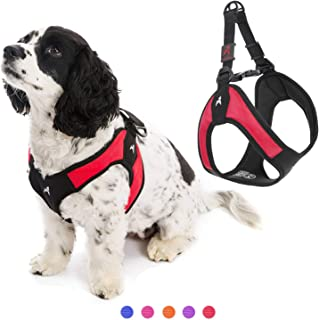 Gooby - Escape Free Easy Fit Harness, Small Dog Step-In Harness for Dogs that Like to Escape Their Harness, Red, Medium
