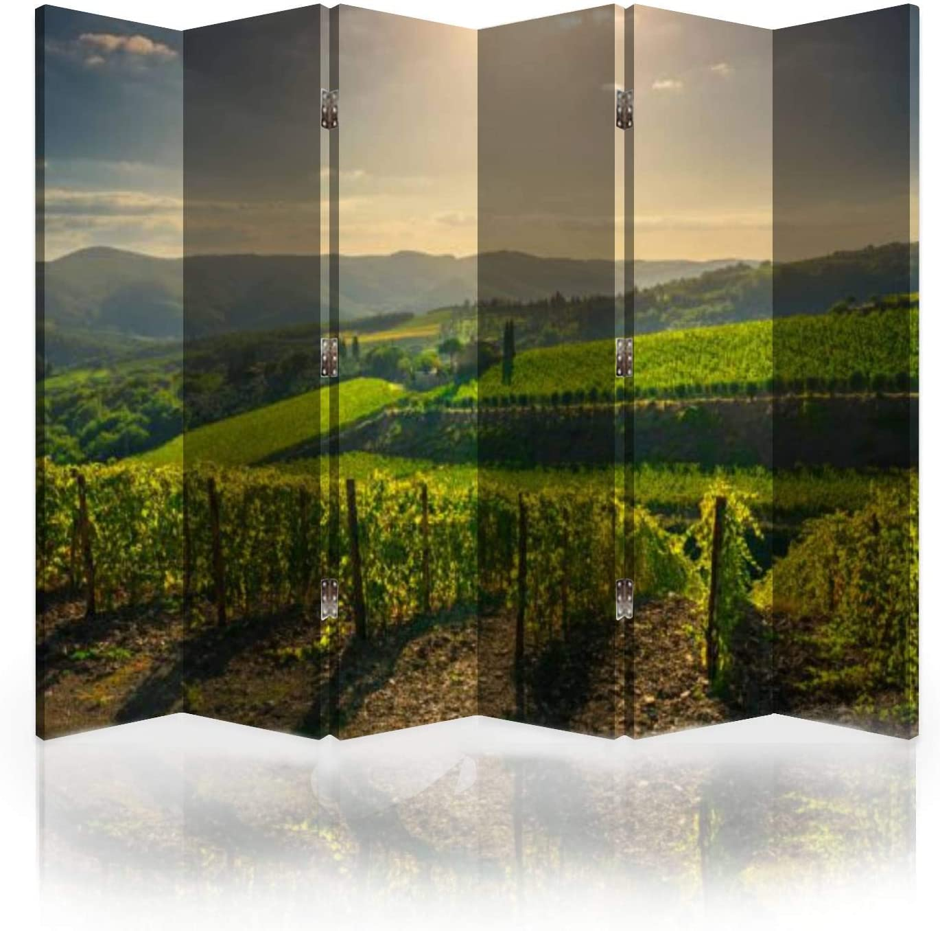 Selling rankings Canvas Room Divider Screen Radda and in Super beauty product restock quality top Chianti Panoram Vineyard