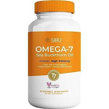 SIBU Omega 7 Sea Buckthorn Oil Soft gels, 60 ct