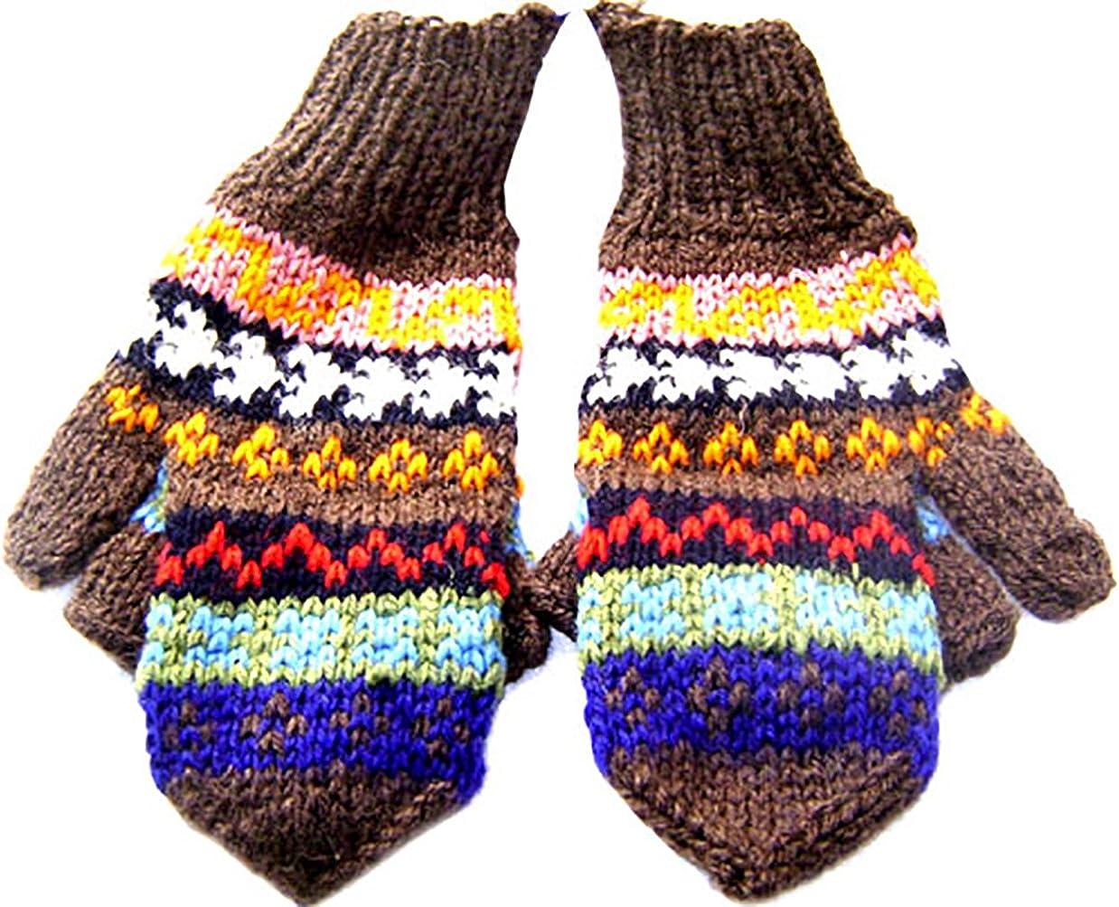 Gamboa - Warm Wool Mittens - Multicolour Design