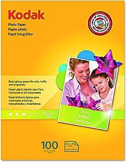 Kodak 8209017 Photo Paper, 6.5 mil, Glossy, 8-1/2 x 11, 100 Sheets/Pack