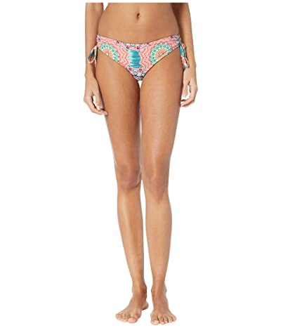 Luli Fama Caribbean Kisses Reversible Drawstring Side Full Bottoms (Multi) Women