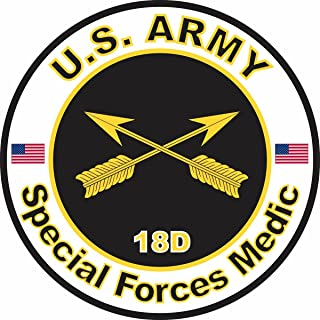 Military Vet Shop U.S. Army MOS 18D Special Forces Medic Window Bumper Sticker Decal 3.8