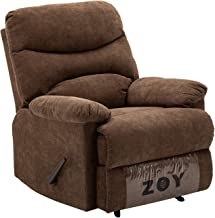 ZOY Fabric/Cotton/LVL/Plywood Recliner, R9149R-51 C550, Manla/Mocha, H99 x W99 x D84 cm