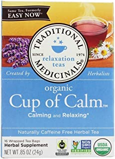 Traditional Medicinals Organic Cup of Clam Herbal Tea Bags - 16 Pieces, 24 gm