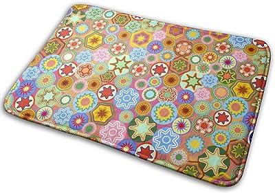 Door Mats Millefiori Floor Mat Indoor Outdoor Entrance Bathroom Doormat Non Slip Washable Welcome Mats Decor 23.6 x 15.7 inch