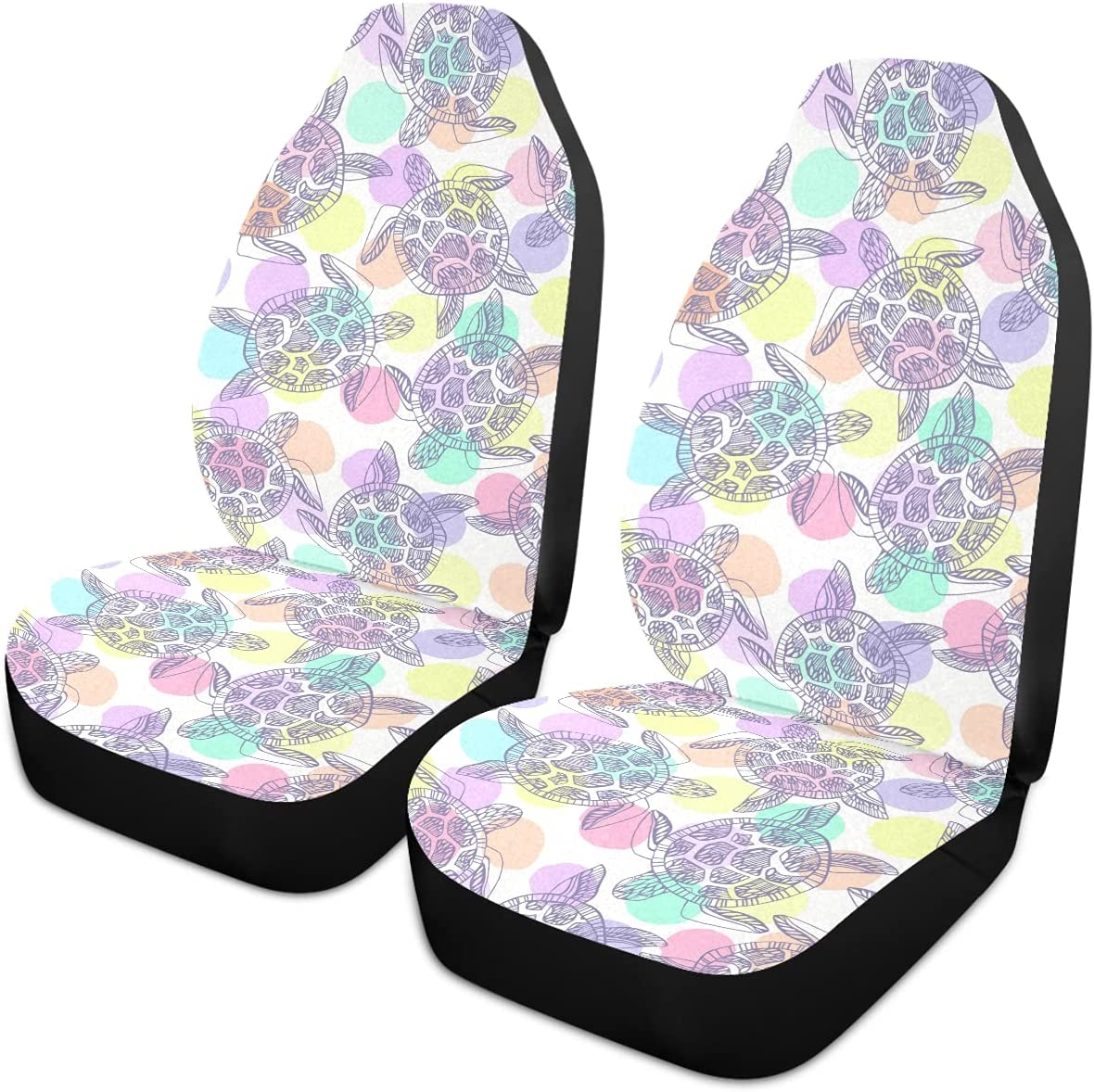 Oarencol Sea Turtle Car Seat Universal Max 64% OFF Polka Dot Sales results No. 1 Colorful Covers