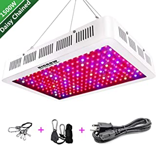 HIGROW 1500W Double Chips LED Grow Light Full Spectrum Grow Lamp with Rope Hanger for Indoor Greenhouse Hydroponic Plants Veg and Flower(10W / LED)