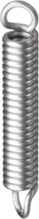 Associated Spring Raymond T41310 Extension Spring, 302 Stainless Steel, Metric, 4 mm OD, 0.8 mm Wire Size, 24.6 mm Free Length, 31.26 mm Extended Length, 33.2 N Load Capacity, 4.25 N/mm Spring Rate (Pack of 10)