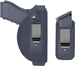 TACwolf Universal IWB Holster Magazine Pouch for Concealed Carry Inside The Waistband Fits Firearms Glock 19 17 26 27 43 S&W M&P Shield 9/40 1911 Taurus PT111 G2 Sig Sauer Ruger